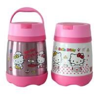 包邮 hello Kitty  500ML 儿童保温饭盒 卡通便当盒 不锈钢便携保温桶 KITTY猫 迷你汤壶 二色可选