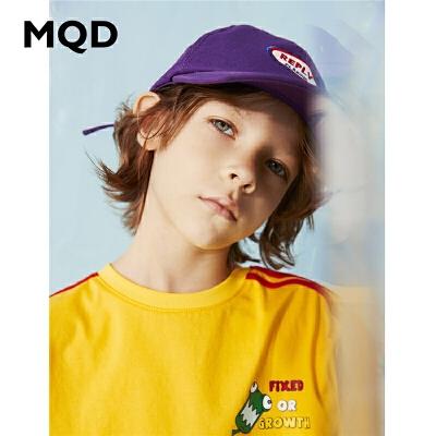 【2件3折:90】MQD男童长袖T恤纯棉2020春季新款中大儿童宽松运动上衣拼接体恤