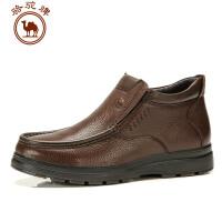 骆驼牌  套筒皮靴日常休闲保暖男靴子 男鞋