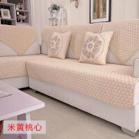 全棉布艺沙发垫夏天简约现代防滑坐垫四季通用客厅组合贵妃套罩巾定制