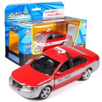 儿童出租车玩具小汽车玩具车合金车模型仿真带声光回力车玩具男孩 北京现代 红