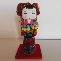 56个少数民族摆件 娃娃云南手工艺制作特色工艺品 公仔玩具木偶纪念