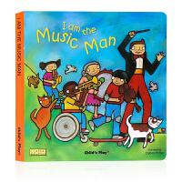 Child's Play 我是音乐家 I am the Music Man 纸板书 韵文童谣洞洞书 英文原版绘本 廖彩杏