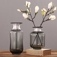 北欧玻璃花瓶摆件 欧式干花花插 家居客厅餐厅装饰花器样板房软装