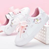 女童板鞋�W生小白鞋春季�和�鞋女孩�\�有蓍e鞋子
