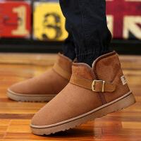 冬季雪地靴男保暖加绒加厚棉鞋男士面包鞋短筒情侣大码棉靴子