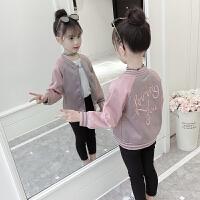 2019春装新款韩版时尚童装儿童短款夹克女孩秋季上衣女童外套
