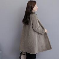 2018颗粒羊毛大衣羊剪绒冬季新款中长款皮毛一体女士皮草外套