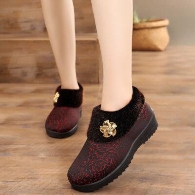 冬季老北京布鞋女鞋加绒保暖软底中老年妈妈奶奶鞋老人棉鞋   批量拍下不发货
