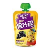 【当当自营】亨氏 Heinz果汁泥乐维滋-苹果黑加仑(1-3岁)120g/袋 宝宝辅食(团购电话:010-57992568)