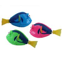 会游泳的玩具鱼会跑摇摆鱼发光的游泳鱼 宝宝洗澡玩具