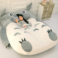 【优选】龙猫床懒人沙发单人卡通榻榻米床垫可爱创意卧室小沙发床上靠背椅