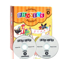 儿童自然拼读 英文原版Scholastic Phonics Readers level D12册书+2CD 学习字母拼
