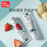 babycare��貉栏嘁嫔�菌低氟防蛀防�x1-6�q�和�牙膏可吞咽