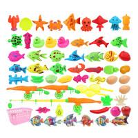 儿童宝宝小孩果蔬钓鱼玩具磁性套装戏水池捞鱼