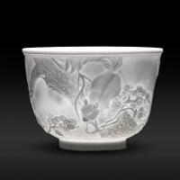 【优选】景德镇陶瓷手工单个雕刻主人杯功夫茶具品茗茶杯白瓷杯个人杯单杯
