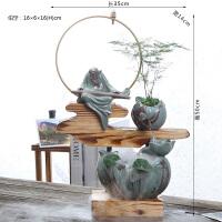 陶瓷小鱼缸办公室客厅家居加湿器喷泉桌面创意迷你流水器