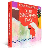 顺丰发货 The Snowy Day 纸板书 下雪天 1963年 凯迪克金奖绘本 圣诞节绘本 美国Top 100 百本