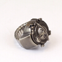 戒指表 海贼王动漫学生手表创意手指表男女款翻盖复古礼物