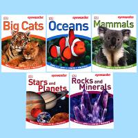 英文原版绘本 DK Eyewonder Collection#3 DK视觉奇观套装3 哺乳动物 海洋 宇宙 岩石 矿物