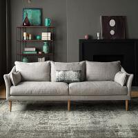 【热卖新品】北欧沙发小户型客厅整装三人可拆洗多人乳胶沙发现代简约布艺沙发