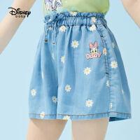 【4折券后价:65.6元】迪士尼女童2021夏季新款短裤女宝宝夏季短裤时髦洋气