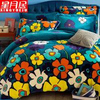 珊瑚绒四件套加厚保暖冬季床单被套床上用品床裙款法莱绒法兰绒定制