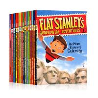 Flat Stanley's Worldwide Adventures卡片娃娃斯坦利 扁平斯丹利的全球冒险 系列12本套装 英文原版桥梁书读物 成长 校园小说Jeff Brown(杰夫・布朗)