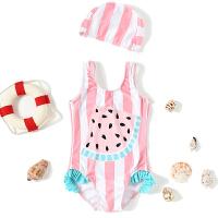 0-3岁儿童连体泳衣宝宝女孩游泳套装女童可爱西瓜游泳衣