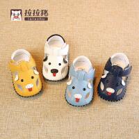 0-6-12个月宝宝凉鞋幼儿学步鞋1岁夏季婴儿软底学步鞋