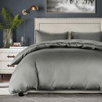 床上四件套纯棉床单全棉被套1.8m床笠贡缎三件套纯色床上用品定制