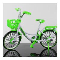 创意合金模型自行车1:10迷你仿真单车玩具收藏礼品山地自行车