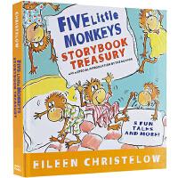 #英文原版绘本0 3岁 Five Little Monkeys 五只小猴子英文原版 5合1精装 廖彩杏书单 经典绘本故