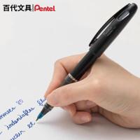 优你客日本pentel派通签字笔TRJ50商务签字纤维笔直液式中性笔大班签字笔可换芯漫画速写顺畅红蓝黑日本原装