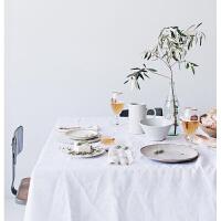 ins纯白色简约风背景布肌理白色摆拍布棉麻桌布餐巾布拍摄道具定制
