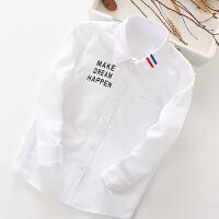 儿童衬衣长袖春秋休闲童装中大童男童衬衫宝宝白上衣