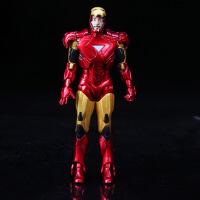 漫威(MARVEL) 复仇者联盟 可动钢铁侠3 Tony爱国者可动模型简装袋装 彩盒装约18cm