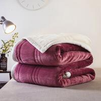 毛毯加厚双层冬季用毯子珊瑚绒男女法兰绒双人午睡毯盖毯单人床单定制