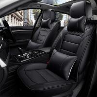 御目 汽车坐垫 PU皮革座椅座套五座通用款全包围座椅垫豪华版带头枕靠背座套
