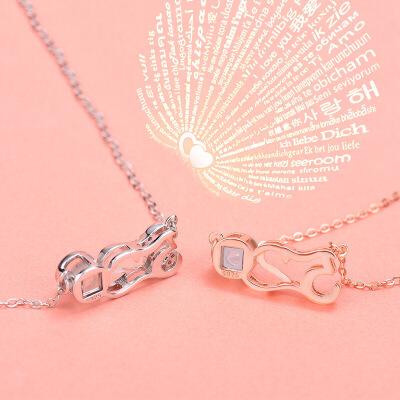 520投影项链 女潮网红抖音定做韩版 简约个性字母银刻字