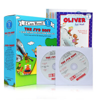I Can Read Leve l 汪培�E书单阶段12册盒装 12本书 2张CD 英文原版图画故事书 Syd Hoff经典童书Danny and the Dinosaur Oliver