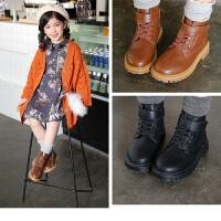 女童靴子秋冬季短靴儿童马丁靴公主童鞋大童韩版秋冬款小女孩棉鞋