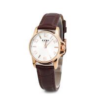 艾奇EYKI石英表 韩版时尚情侣皮带对表 皮带手表 女表 8480白色