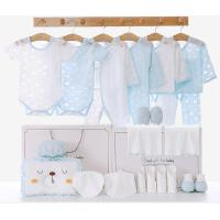 婴儿衣服夏季薄款新生儿礼盒套装初生满月礼物刚出生宝宝用品大全