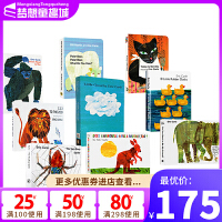 Eric Carle 艾瑞卡尔爷爷经典系列 英文原版绘本0 3岁 10册纸板书 From Head To Toe/Today Is Monday/1,2,3,To The Zoo