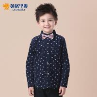 英格里奥童装男童儿童衬衫长袖灯芯绒休闲衬衫LLB261