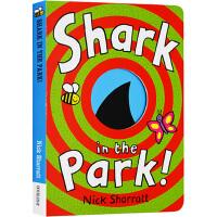 Shark In The Park 公园里面有鲨鱼 英文原版 纸板洞洞书 吴敏兰书单 想象力 幼儿启蒙绘本 Nick