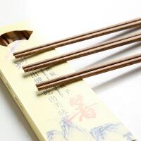 鸡翅原木筷子 日式无漆无蜡酒店家用实红木餐具 10双家庭套装 鸡翅木筷十双装