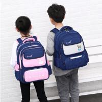 自然鱼时尚儿童双肩书包8-12周岁男孩 轻便背包小学生女孩2-4年级防泼水