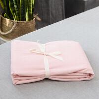 无印纯色水洗棉单件床单日式良品单双人床笠1.5m1.81.2定制